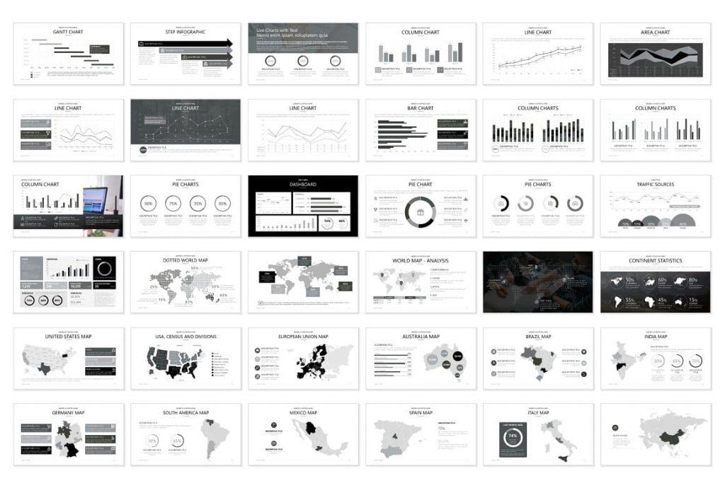 36 Pitch Deck Preview Slides - Powerpoint Presentation.