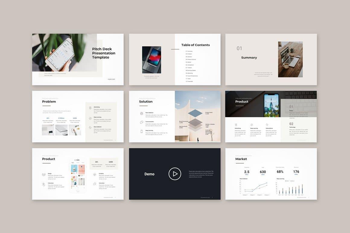 Slides Pitch Deck PowerPoint Template.