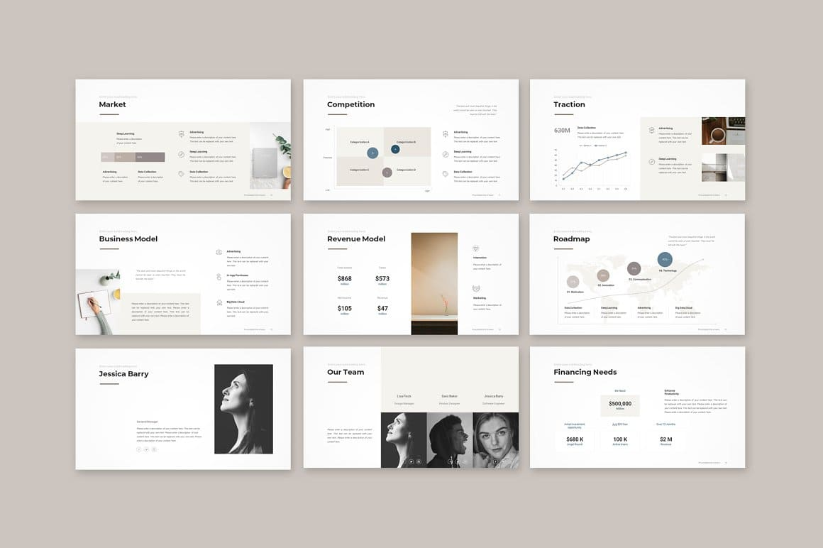 9 Slides Pitch Deck PowerPoint Template.