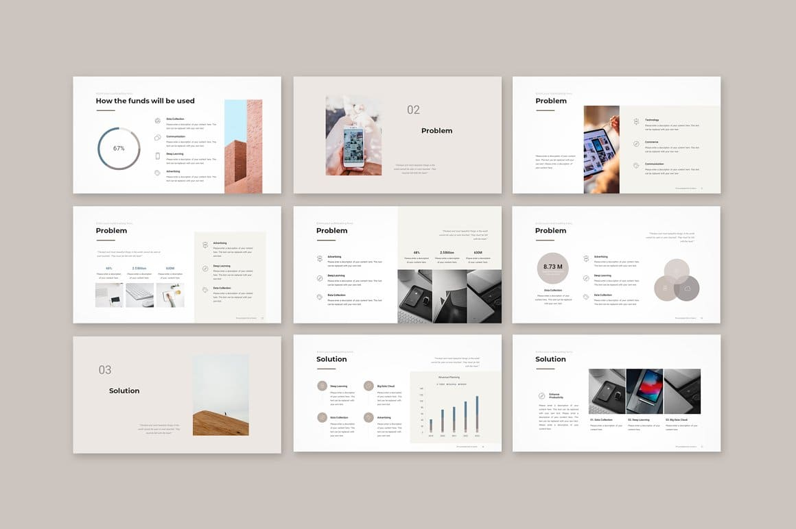 Slides Preview Pitch Deck PowerPoint Template.