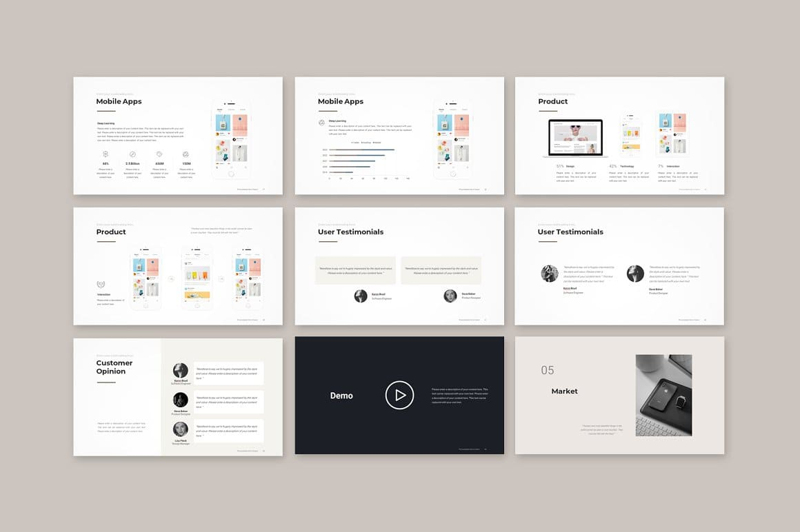 Presentation content Pitch Deck PowerPoint Template.