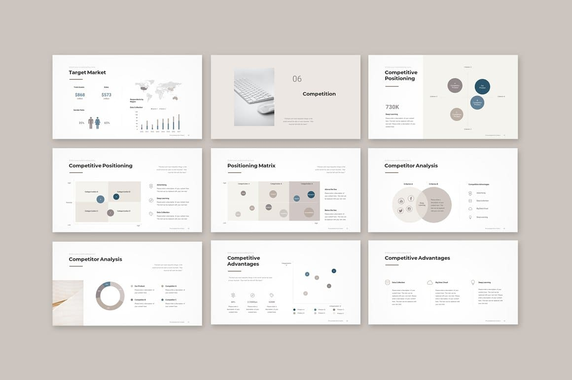 Slides Competition Pitch Deck PowerPoint Template.