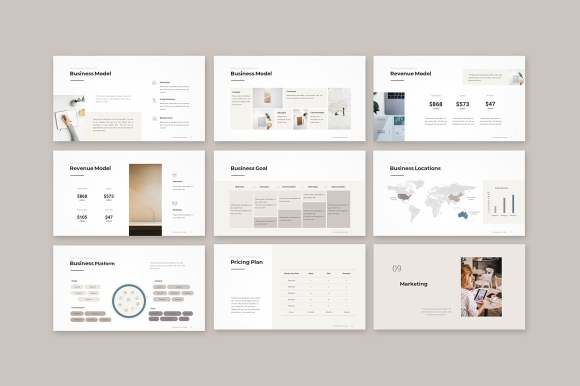 Business Slides Pitch Deck PowerPoint Template.