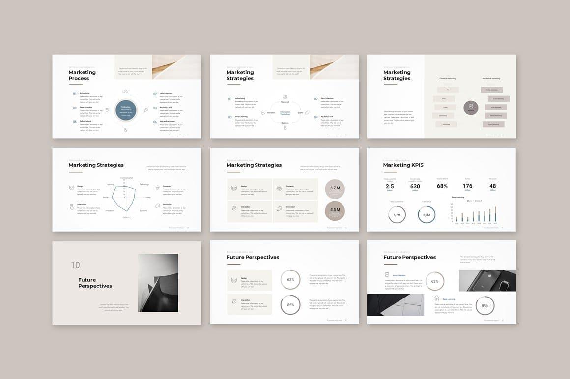 Slides Marketing Pitch Deck PowerPoint Template.