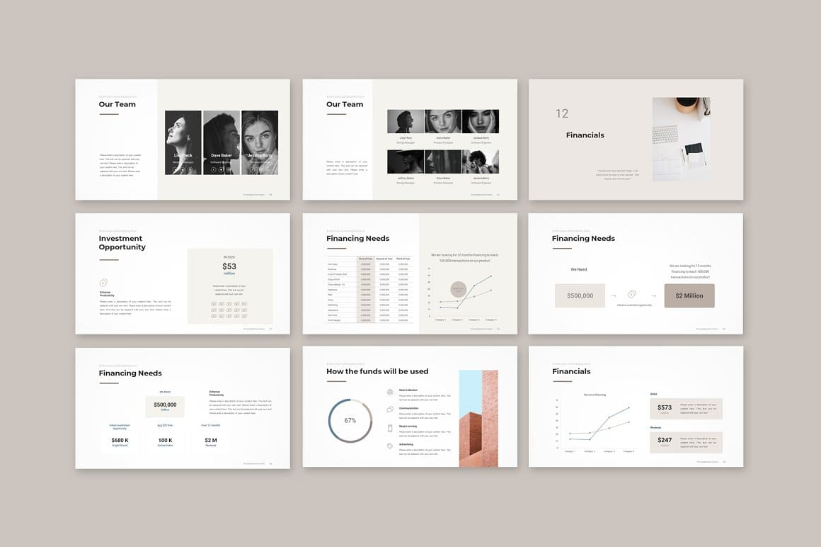 Graphic Slides Pitch Deck PowerPoint Template.