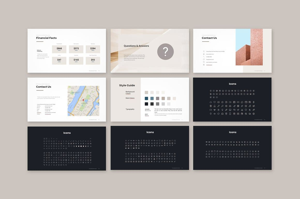 Final Slides and Icons Pitch Deck PowerPoint Template.