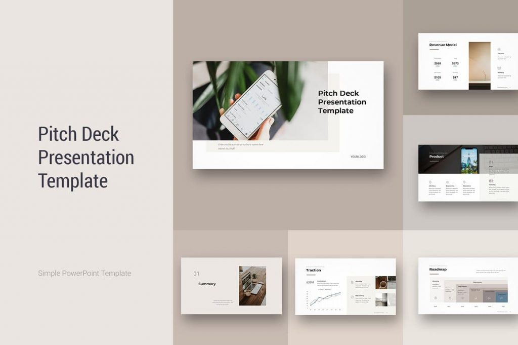 Cover Pitch Deck PowerPoint Template.