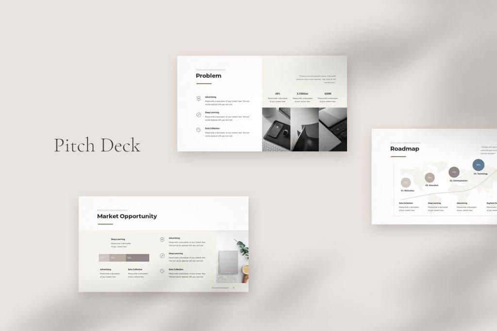 Presentation Pitch Deck PowerPoint Template.