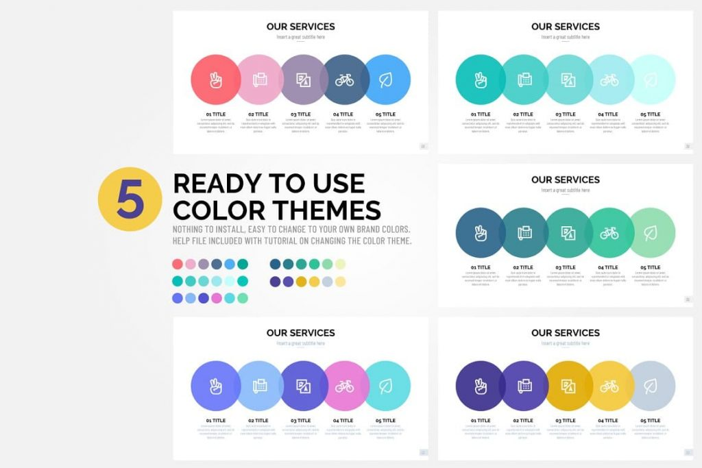 Pitch Deck Color Themes - Presentation Dashboard.