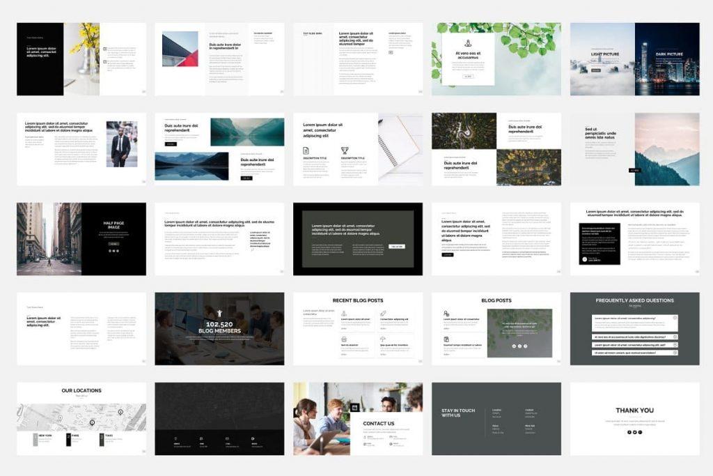 25 Slides for Presentation Dashboard.
