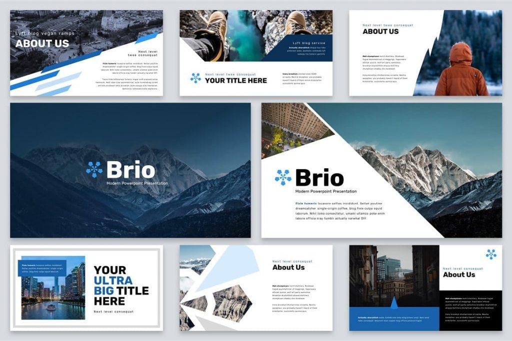 Slides Brio Business Powerpoint Template.