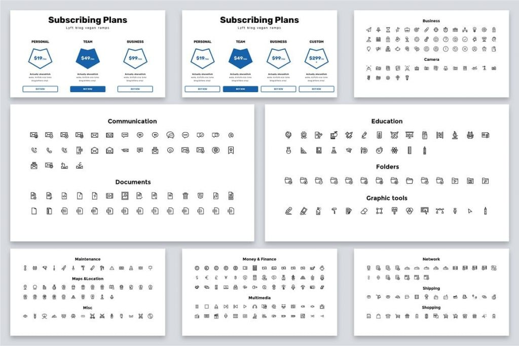 Brio Business Powerpoint Template Icons.