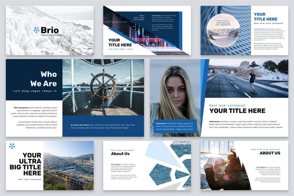 Your title here Brio Business Powerpoint Template.