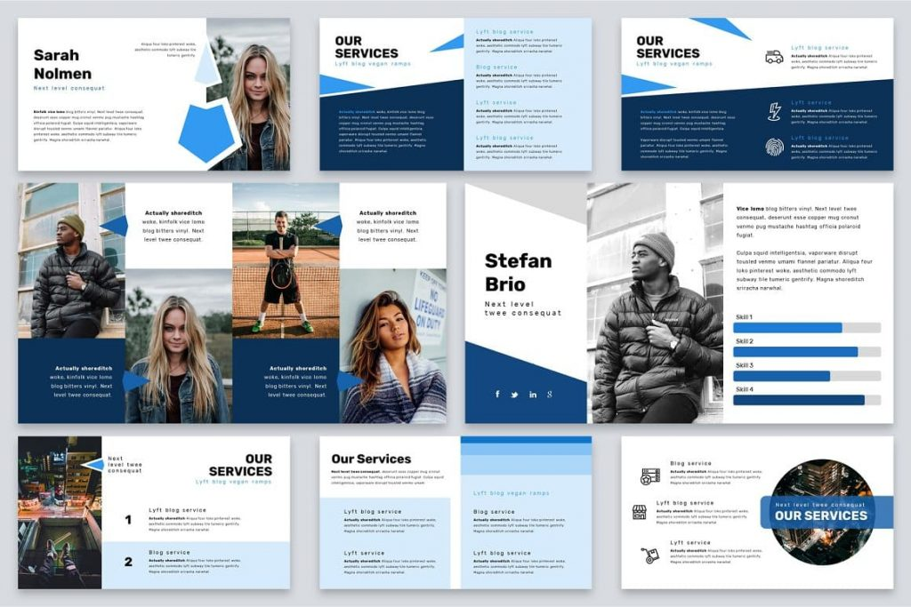 Brio Business Powerpoint Template slides preview.