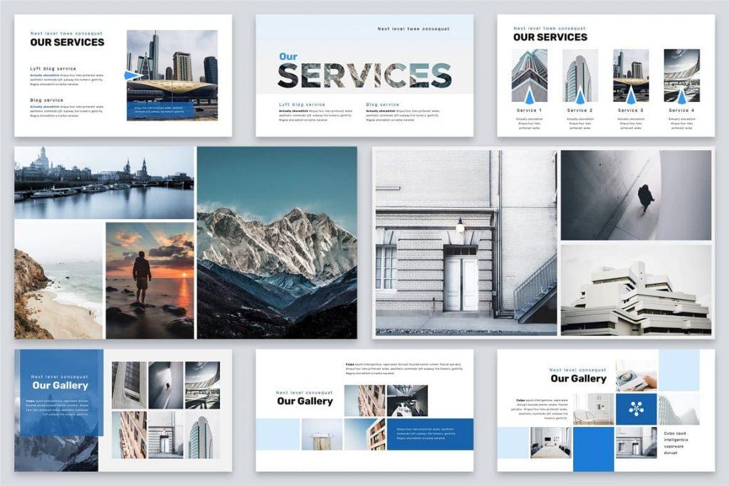 Brio Business Powerpoint Template Photo Gallery Slides.