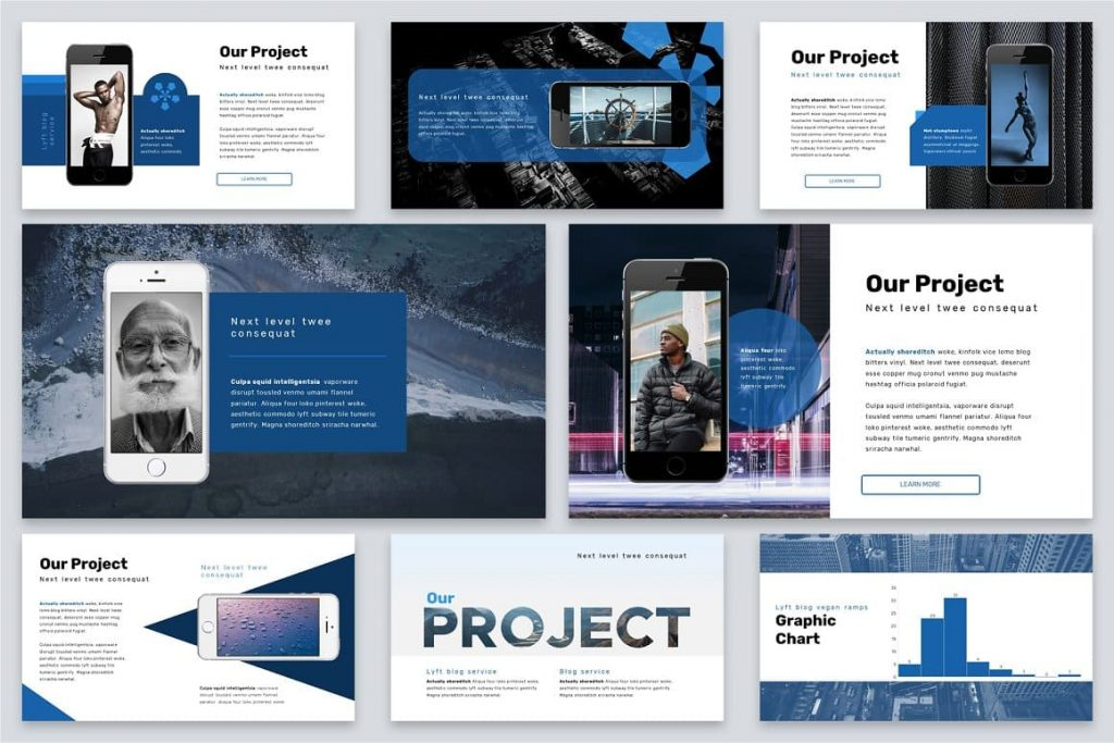 Our Projects Brio Business Powerpoint Template.