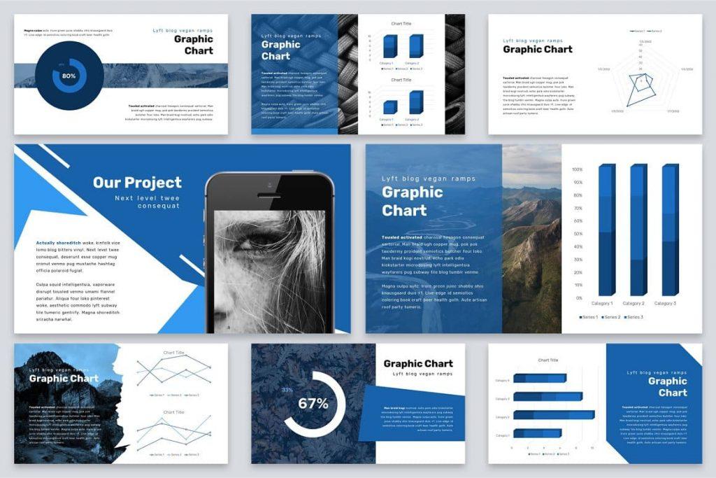 Chart Slides Brio Business Powerpoint Template.
