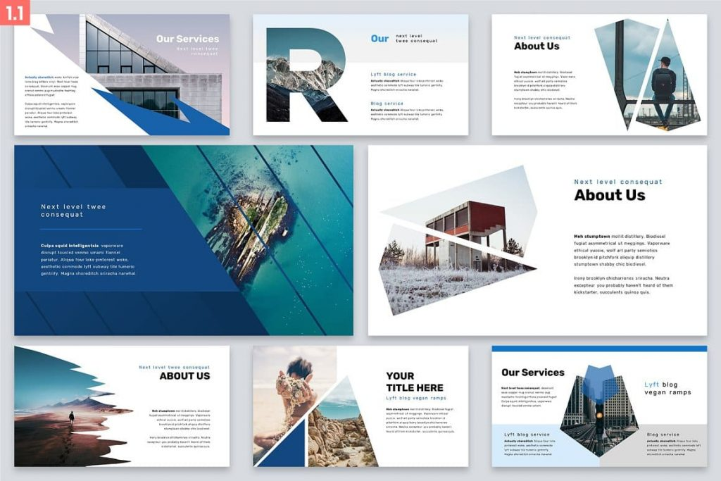 Slides About Us Brio Business Powerpoint Template.