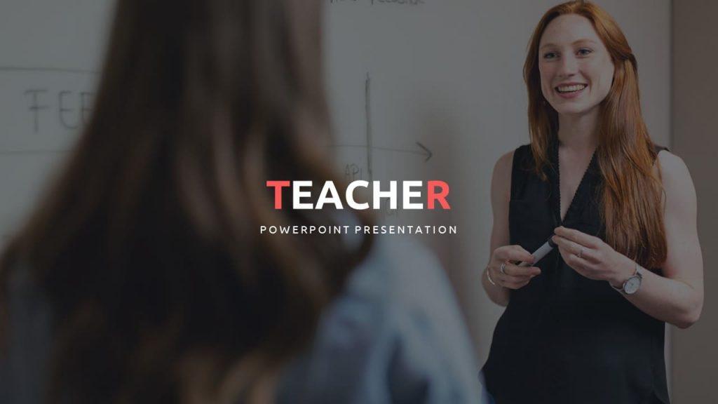 Cover for Teacher Presentation Template.