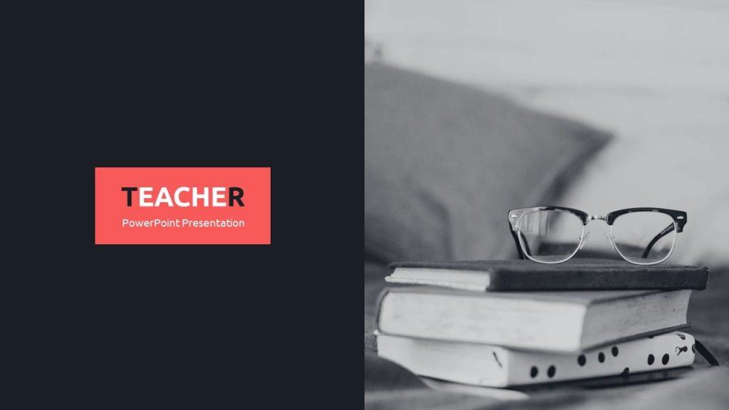 Cover slide. Teacher Presentation Template.