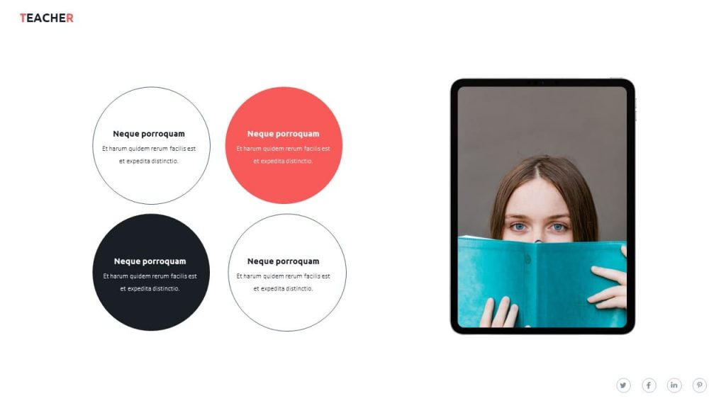 Device Mockup the tablet. Teacher presentation template.