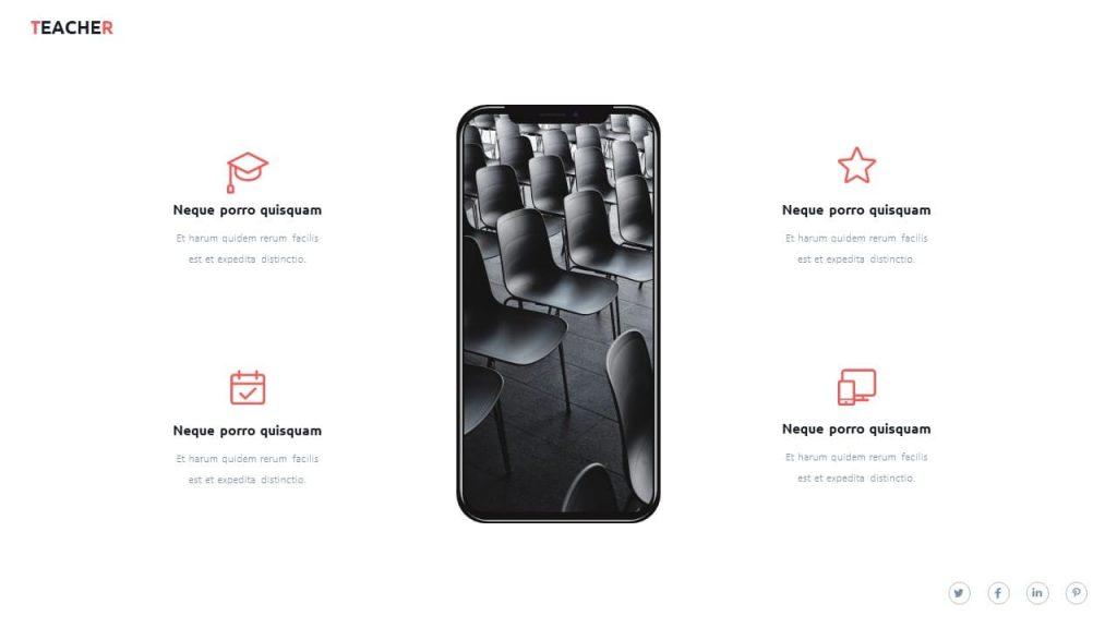 Mobile preview. Teacher presentation template.