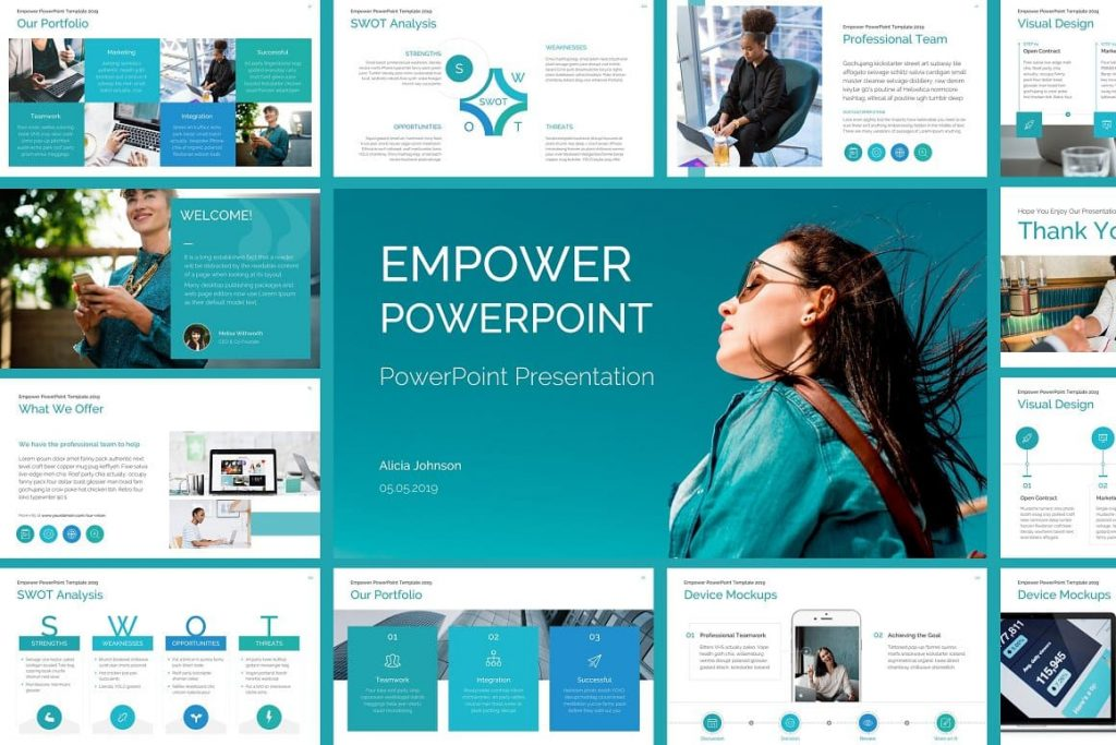 Cover for EMPOWER PowerPoint Template.