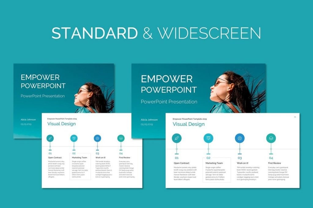 Free stock images EMPOWER PowerPoint Template.