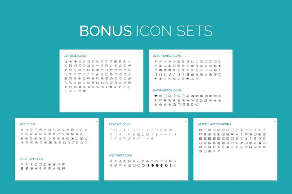 Free 400+ Editable Corporate Icons EMPOWER PowerPoint Template.