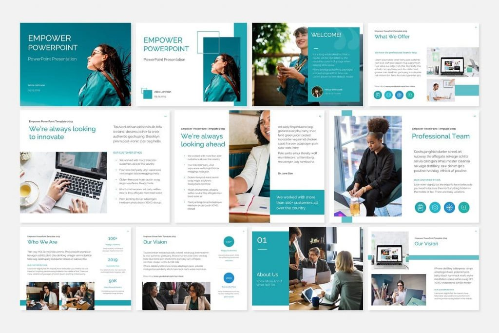EMPOWER PowerPoint Template slides preview.