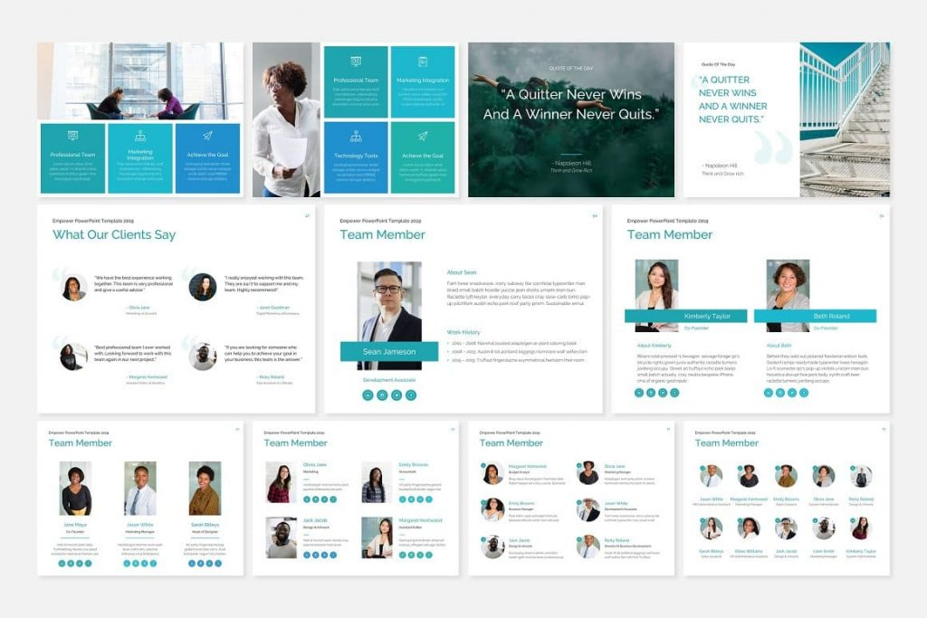Page Layouts Members of the EMPOWER PowerPoint Template Team.