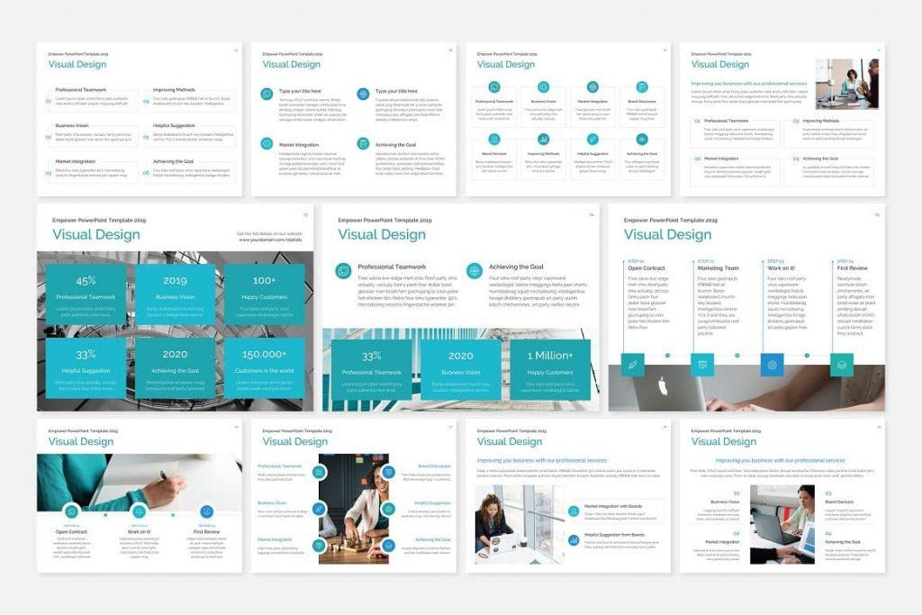 Visual Design EMPOWER PowerPoint Template.