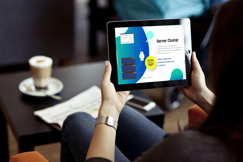 Blue Presentation: Powerpoint, Keynote, Google Slides by MasterBundles tutti ipad.