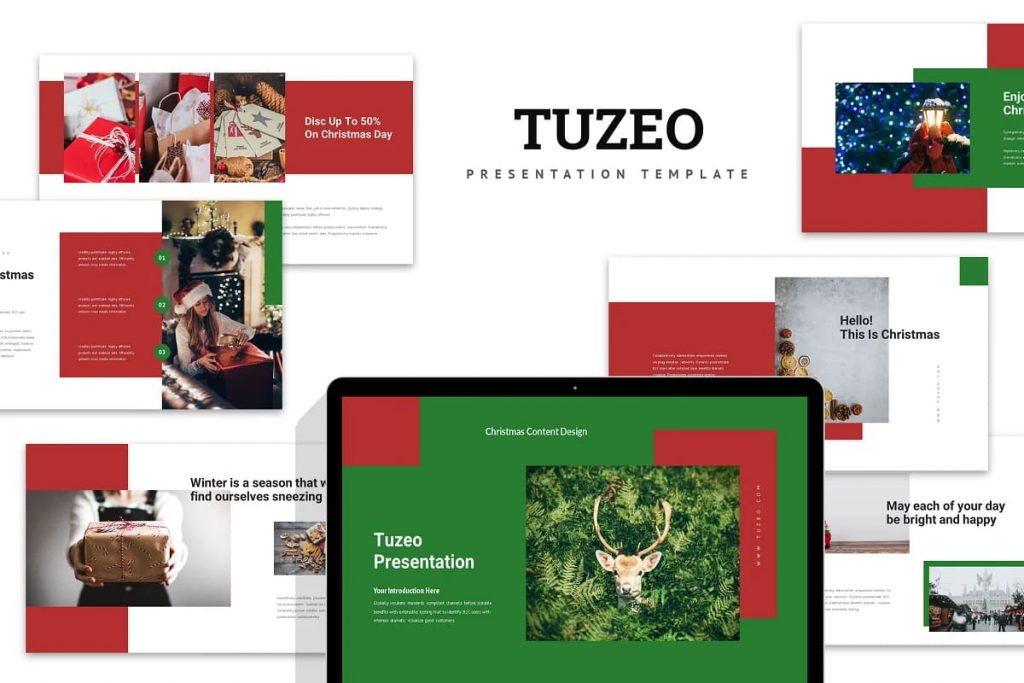 Cover for Tuzeo: Christmas Event Powerpoint.