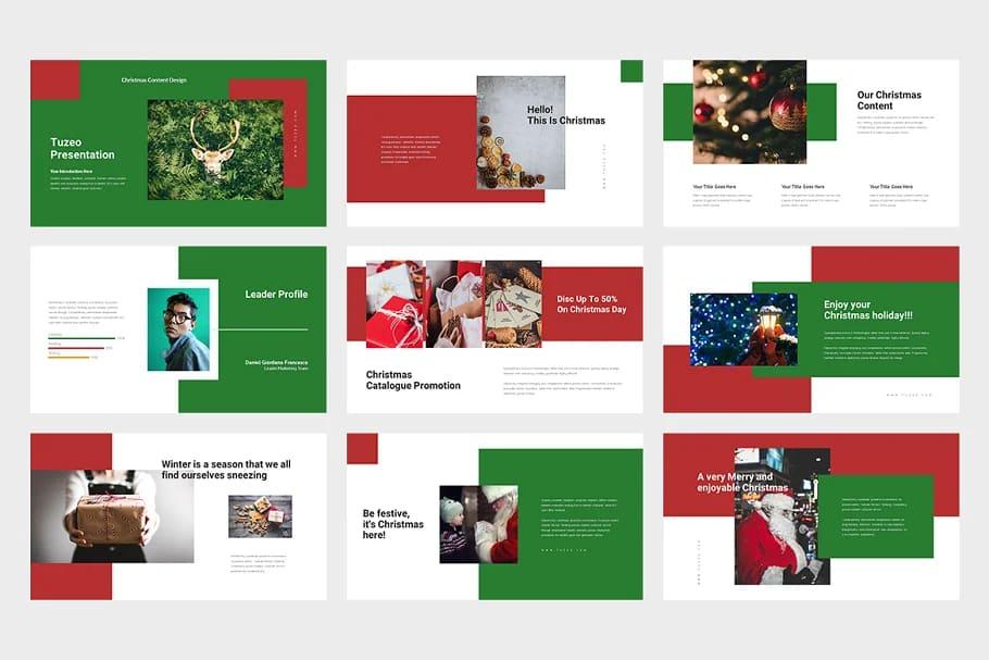 9 Slides Christmas Event Powerpoint. Light theme.