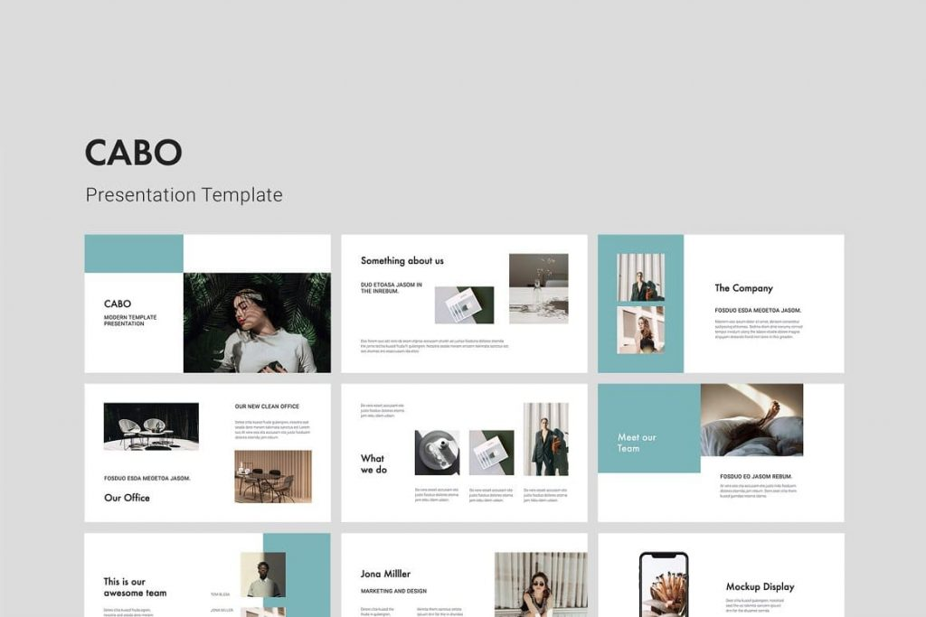 CABO - Clean and Minimal Google Slides Presentation Template