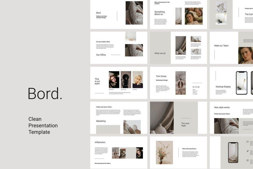 BORD - Clean and Neutral Keynote Presentation Template.