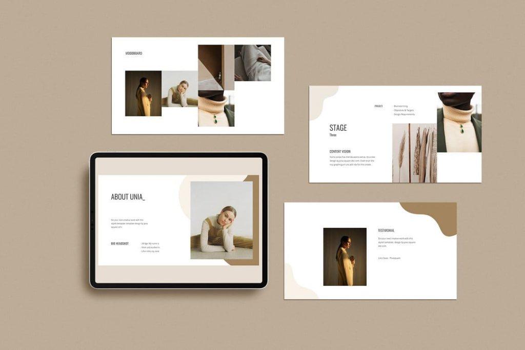 Sample Slides NOYA - Creative & Stylish Google Slides Template.