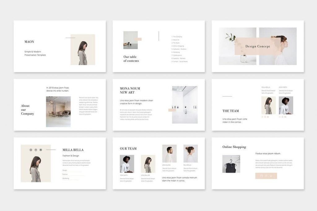 Greetings MAON - Powerpoint Template.