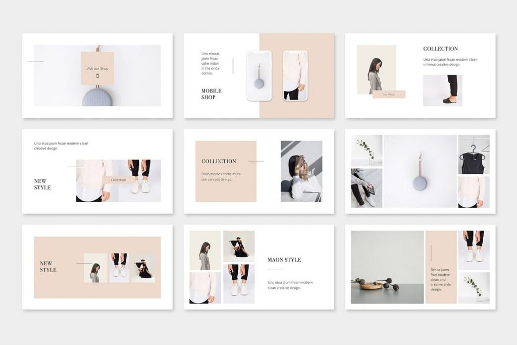 Modern and simple MAON - Powerpoint Template.