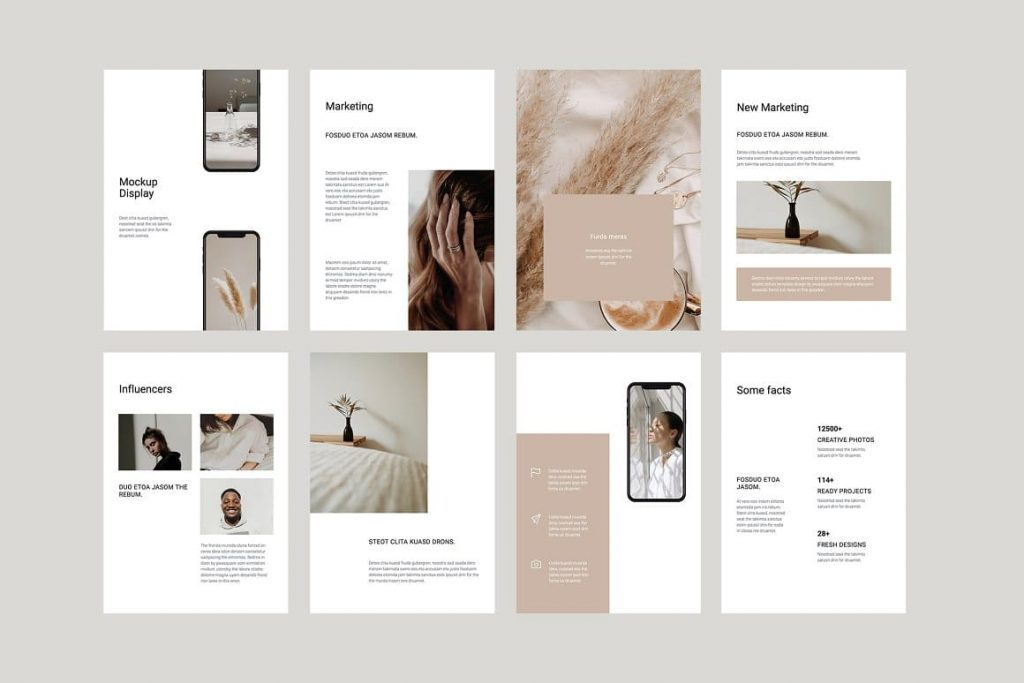 Clean and Creative Layout COSA - Vertical Keynote Template.