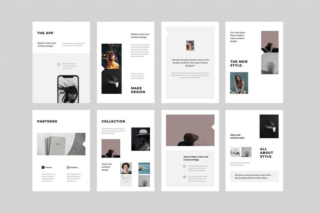 BOSH Slide Examples - Keynote A4 Vertical Template.
