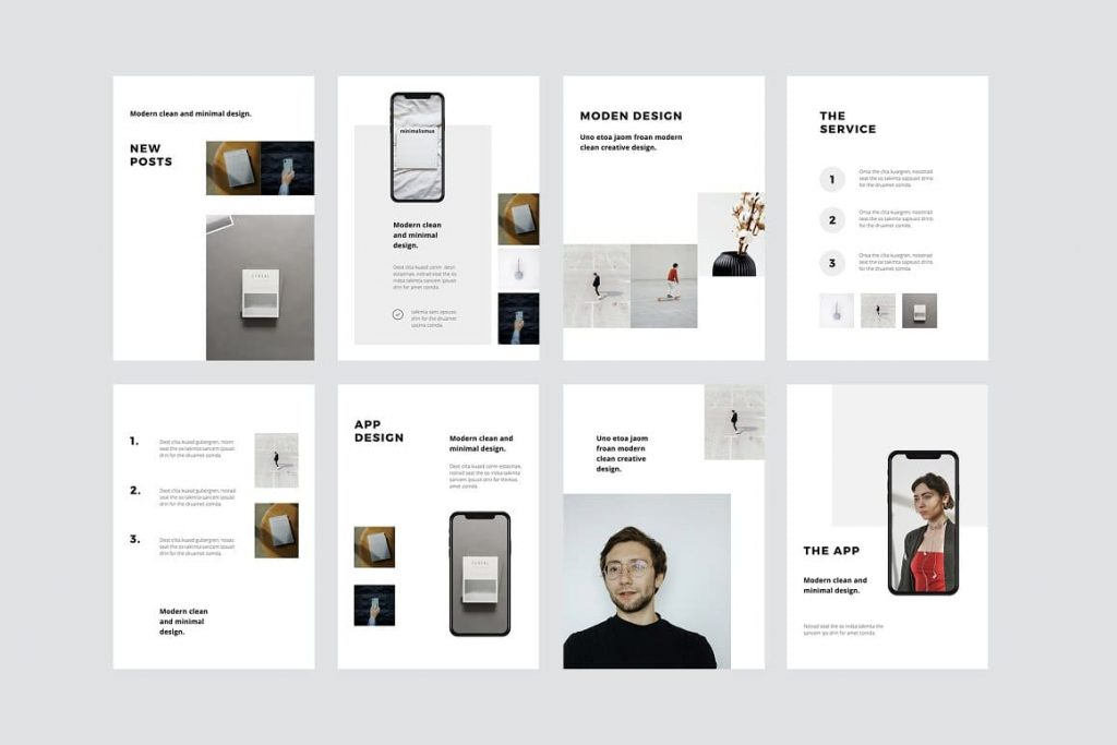 Easy Editable MODEN - Keynote A4 Vertical Template.