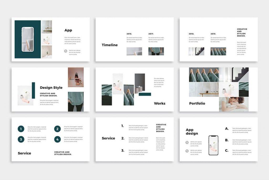 Easy Editable Colors NOYA - Powerpoint Template.