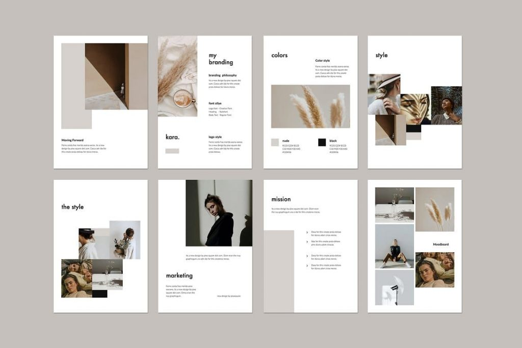 All KARA - Vertical Powerpoint Template elements are fully editable.