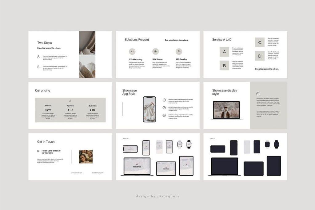 BORD Mockup Slides - Neutral Keynote Template.