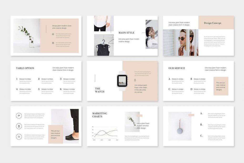 Full HD format MAON - Powerpoint Template.