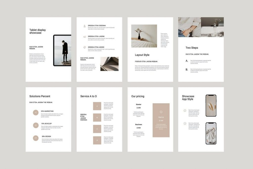 All images are vector COSA - Vertical Keynote Template.