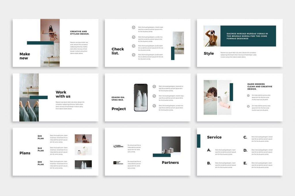 Free font NOYA - Powerpoint Template is used.