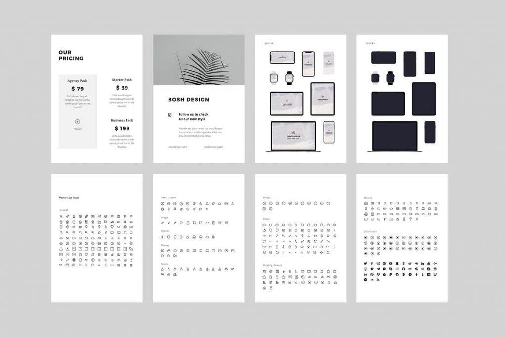 BOSH Mockups & Icons - Keynote A4 Vertical Template.